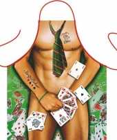 Sexy keukenschort strip poker man